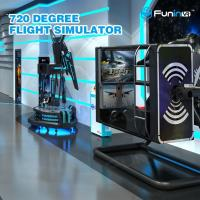 50 inch Screen VR Flight Simulator ,  720 degree Virtual Reality Experience Manufactures
