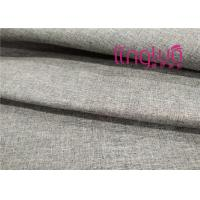 China Solid Color Shoes Fabric 100% Polyester Yarn Dye Linen Imitation Type on sale