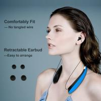 Bluetooth Headphones Wireless Stereo Neckband Foldable Sport Earbuds with Mic and Retractable Earphones Manufactures