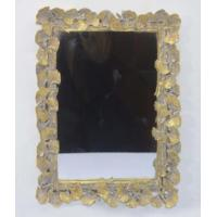Handcrafted Vintage Style Large Gold Framed Wall Mirrors With Ginkgo Leaf Border