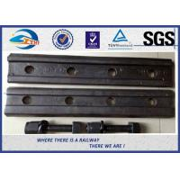 Railroad Joint Bars And Bolts Railway Fish Plate Fishplate With 4 / 6 Holes Manufactures
