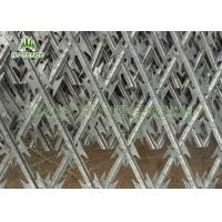 Security Concertina Razor Wire Mesh Fence For Highway / Railway Protection Manufactures