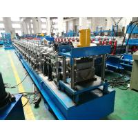 Hydraulic Cutting Gutter Roll Forming Machine , 7.5KW Half Round Gutter Machine Manufactures