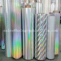 Hot sell Thermal  seamless rainbow PET & BOPP holographic metallized lamination Film  for paper board Manufactures
