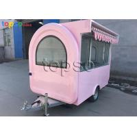 Popular Mobile Food Trailer Safe Mobile Catering Units Dual Towing Chains Manufactures