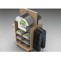 Strong Flooring Slatwall Shelves Clothing Display Rack With Silver Aluminum Slot Manufactures