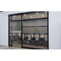Aluminum Frame Tempered Glass Modern Office Partitions / Office Room Dividers Partitions Manufactures