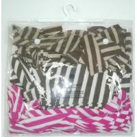 Reusable PVC Plastic Bags Hook CMYK Printing for Cosmetic Manufactures