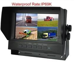 China AM7504 Waterproof Digital 7 Inch Car LCD Monitor 16:9 Screen 4 CH Video Inputs 800 R.G.B x480 Dots IP69K Waterproof on sale