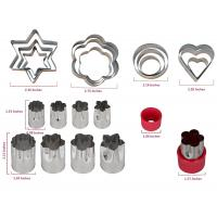 Stainless Steel Vegetable Cutter Shapes Set (20pcs) Vegetable Fruit Cookie Cutter Mold - Cute for Fun Food Manufactures