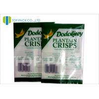 Green And White Printed Laminated Pouches Banana Chips Packaging Window Manufactures