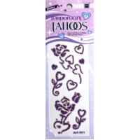 Cool Heart Design small printable Glitter Temporary Tattoo for kids Body skin Manufactures