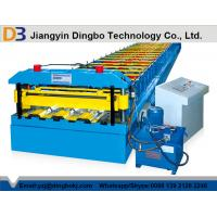 China Trapezoidal Profile Deck Floor Roll Forming Machine With Color Coated  on sale
