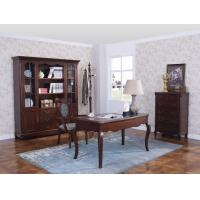 Rubber Wood Home office room furniture bookcase set by Glass door with Shelves and Study desk Computer table Manufactures