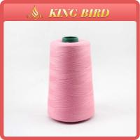 Pink Dope Dyed Spun Polyester Yarn For Sewing Garments And Textile Goods Manufactures