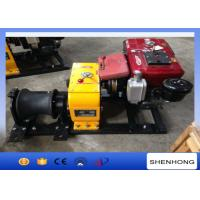 China Tower Erection Mechanical Device Diesel Cable Winch 8 Ton With 10HP Diesel Engine on sale