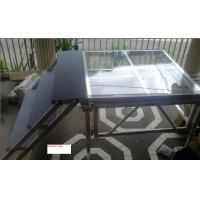 Quality 1.22 X 1.22 M Aluminum / Glass / Acrylic Stage Platform 3 Steps Stair for sale