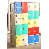 Cell Phone Lockers With Chargers , 10 Tier Beige / Blue / Red Single Tier Lockers Manufactures