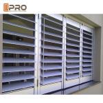 Horizontal Opening Aluminium Louver Window Australia Standard Powder Coated Customized Color Manufactures