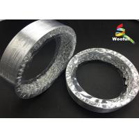 Ventilation aluminum foils/ polyester round flexible aluminum air duct Manufactures