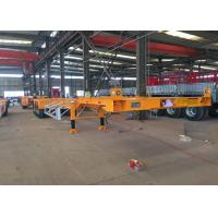Mechanical Equipment Hydraulic Flatbed Trailer Polyurethane Paint Manufactures