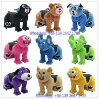 China 2018 NEW Design Remote Control Battery Coin Operated Electric Cute Plush Animal Ride On Toys on sale