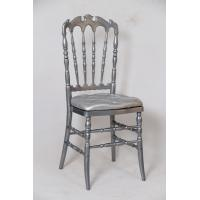 China Silver Resin Wedding Chairs UV Protect with Seat Pad , Stackable Plastic Chairs on sale
