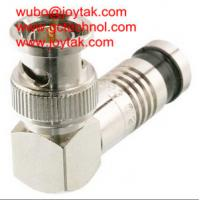 China BNC Coaxial Connector BNC Compression Type Right Angle 75ohm for RG6 Coax Cable on sale