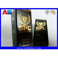 Printed Cardboard Storage 10ml Vial Boxes With Lids Testosterone Gels Gold Foil Packaging Manufactures
