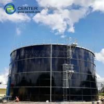 Industrial Waste Water Storage Tanks ,  Porcelain Enamel Biogas Storage Tank Dark Green Manufactures