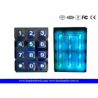 Illuminated Indoor Access Control Zinc Alloy Metal Keypad With 12 Keys Manufactures