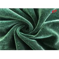 China 4 Way Stretch Spandex Warp Knitted Shiny Velvet Dress Fabric For Upholstery on sale