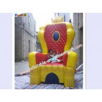Custom Advertising inflatable , PVC Tarpaulin For King Throne Chair for sale