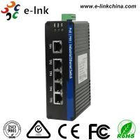 5 Fast Port Din Rail Mount Ethernet Switch Unmanaged , Industrial PoE Switch Manufactures