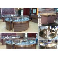 Elegant Design Countertop Jewelry Display Cases Stable Stainless Steel Frame Wood Manufactures