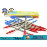 Plastic And Bamboo Baccarat Gambling Systems , Casino Official Double Color Sides Dew Ball Point Pen Manufactures