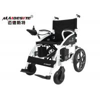 Custom Electric Wheelchairs Black , Lightweight Travel Wheelchair Health Care Manufactures