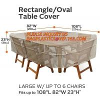 RECTANGLE, PVAL TABLE COVER, LARGE W/UP TO 6 CHAIRS FITS UP TO 108L 85W 23H, SEWING WATERPROOF PE TABLE CHAIR COVER B Manufactures