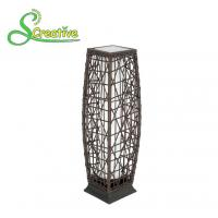 Waterproof Rattan Outdoor Solar Lights , Tall Wicker Solar Floor Lamp With Battery Manufactures
