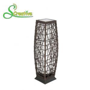 Waterproof Rattan Outdoor Solar Lights , Tall Wicker Solar Floor Lamp With Battery Manufactures