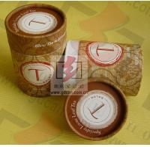 Brown Wine Bottle Gift Tube Packaging Cylindrical Custom Printing