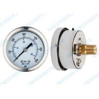 China 63mm  Liquid filled pressure gauge with brass movement , phosphor bronze tube on sale