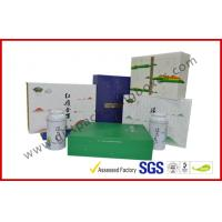 Offset printed Tea / Moon Cake Gift Packaging Box , Customized 157g Printing Paper Gift Packaging Boxes Manufactures