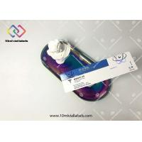 Glossy UV Finishing 10ml Vial Labels Metallized Silver For Glass Vial Bottles Manufactures