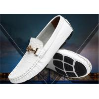 Buy cheap Crocodile Pattern Loafer Slip On Shoes With Metal Buckle / Anti Slip Rubber Back Counter from wholesalers