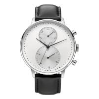 CD Grain Face Quartz Silver Stainless Steel Watch Sr626sw With Black Leather Strap Manufactures