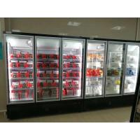 China 220 Voltage Upright Glass Door Freezer With  High QualityPlug-in Embraco Compressor on sale