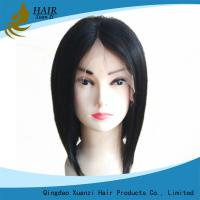 China Silky Straight Full Lace Human Hair Wigs Long Lasting No Shedding No Tangle on sale