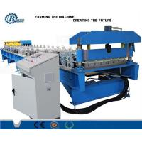 Color Coated Steel Roof Panel Roll Forming Machine With Hydraulic System Manufactures