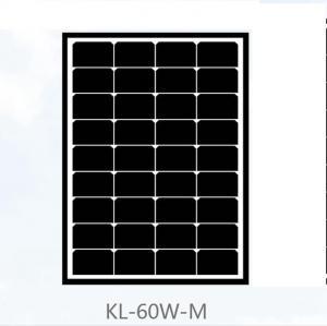 China 60 Watt Mono Crystal Solar Panel 17.5V Power Voltage Black Roof Tiles For Home on sale